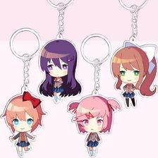 Keychain Full Set: Sayori, Natsuki, Yuri & Monika