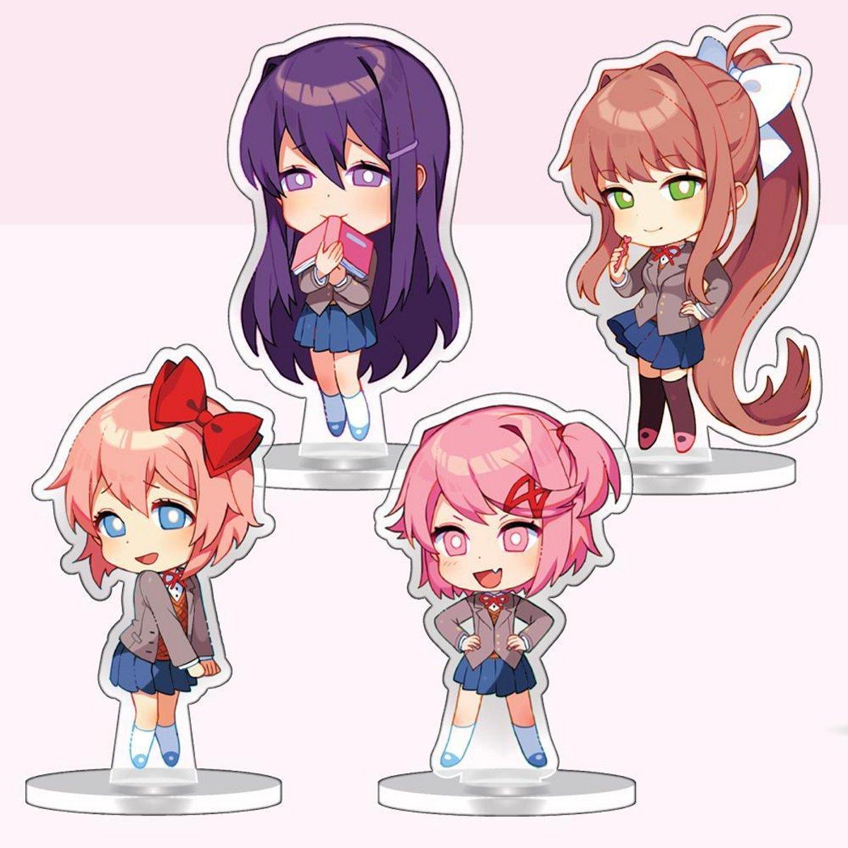 Acrylic Standee Set (4-Pack): Sayori, Yuri, Natsuki & Monika