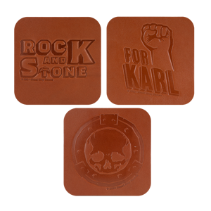 Abyss Bar Leather Coaster Set