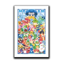 Mega (mixed) Man! Art Print