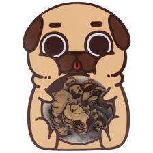 Puglie Flake Stickers